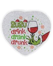 Gr 2020 Drink Drank Drunk Heart Ornament (Wood) tile