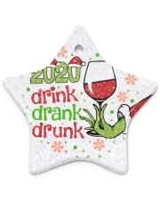 Gr 2020 Drink Drank Drunk Star Ornament (Porcelain) tile