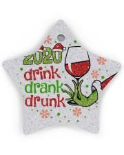 Gr 2020 Drink Drank Drunk Star Ornament (Wood) tile