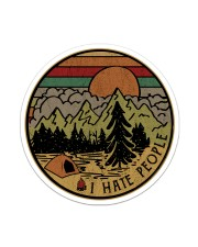 Camping - I Hate People Sticker Sticker - Single (Vertical) front
