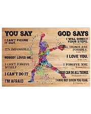 Softball You Say And God Say 17x11 Poster front