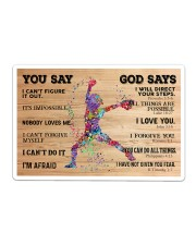 Softball You Say And God Say Sticker tile