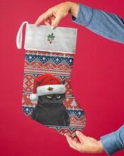 Black Cat Christmas Stocking - VMHPQH101120 Christmas Stocking aos-christmas-stocking-lifestyles-02