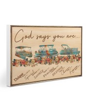 Pontoon - God Says You Are Gallery Wrapped Canvas Prints tile
