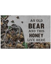 """Custom Camo Old Bear And This Honey Doormat - DV Doormat 22.5"""" x 15""""  front"""
