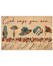 Girl Scout God Says You Are V2 17x11 Poster front