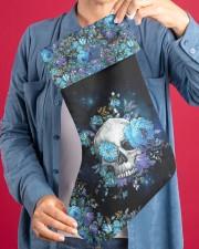 Skull Blue Flower Christmas Stocking Christmas Stocking aos-christmas-stocking-lifestyles-04