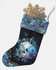 Skull Blue Flower Christmas Stocking Christmas Stocking aos-christmas-stocking-lifestyles-05