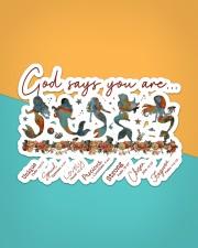 Mermaid - God Says You Are Sticker - Single (Horizontal) aos-sticker-single-horizontal-lifestyle-front-02