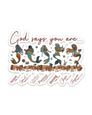 Mermaid - God Says You Are Sticker - Single (Horizontal) front
