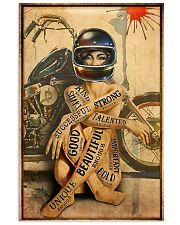 Motorcycle Strong Girl 11x17 Poster front