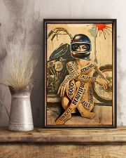 Motorcycle Strong Girl 11x17 Poster lifestyle-poster-3