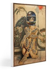 Motorcycle Strong Girl 20x30 Gallery Wrapped Canvas Prints thumbnail