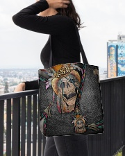 Skull Feather All-over Tote aos-all-over-tote-lifestyle-front-05