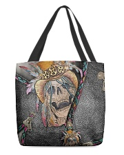Skull Feather All-over Tote back