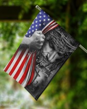 "Jesus - Hate has no home here Flag 11.5""x17.5"" Garden Flag aos-garden-flag-11-5-x-17-5-lifestyle-front-15"
