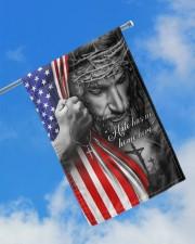 "Jesus - Hate has no home here Flag 11.5""x17.5"" Garden Flag aos-garden-flag-11-5-x-17-5-lifestyle-front-16"