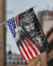 "Jesus - Hate has no home here Flag 11.5""x17.5"" Garden Flag aos-garden-flag-11-5-x-17-5-lifestyle-front-17"