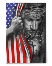 """Jesus - Hate has no home here Flag 11.5""""x17.5"""" Garden Flag front"""