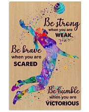Volleyball - Be Strong 15 11x17 Poster front