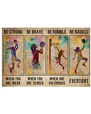 Basketball Girl Be Strong Poster 17x11 Poster front