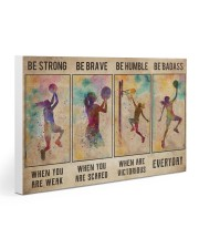 Basketball Girl Be Strong Poster Gallery Wrapped Canvas Prints tile