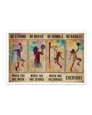 Basketball Girl Be Strong Poster Sticker tile