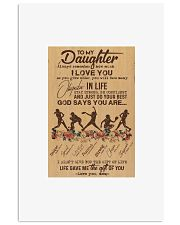 To My Daughter God Says You Are - Softball - DVH Vertical Poster tile