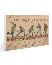 Field Hockey God Says You Are Gallery Wrapped Canvas Prints tile