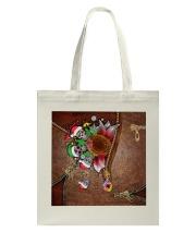 Skull Sunflower Christmas Tote Bag thumbnail