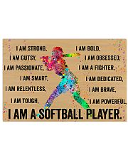 I Am A Softball Player 17x11 Poster front