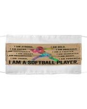 I Am A Softball Player Cloth face mask thumbnail