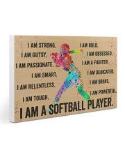 I Am A Softball Player 30x20 Gallery Wrapped Canvas Prints thumbnail