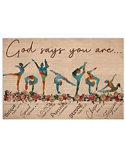 Gymnastics - God Says You Are  17x11 Poster front