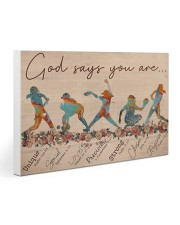 Gymnastics - God Says You Are  30x20 Gallery Wrapped Canvas Prints thumbnail