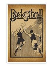 Baketball Vintage Poster Sticker - Single (Vertical) thumbnail