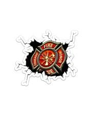 Firefighter Crack Sticker - Single (Horizontal) front