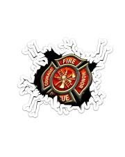 Firefighter Crack Sticker tile