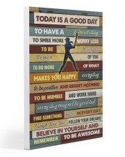 Softball - To Day Is Good Day Gallery Wrapped Canvas Prints tile