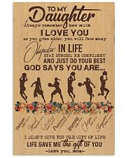 To My Daughter God Says You Are - Basketball  11x17 Poster front