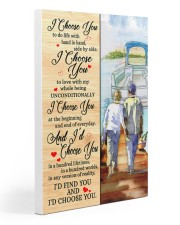 Pontoon Love I Choose You 20x30 Gallery Wrapped Canvas Prints thumbnail