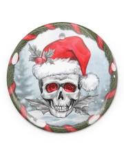 Skull - Christmas Ornament Circle ornament - single (porcelain) front