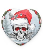 Skull - Christmas Ornament Heart ornament - single (porcelain) thumbnail