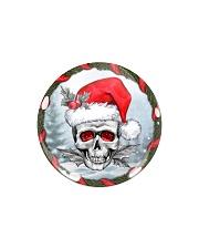 Skull - Christmas Ornament Circle Magnet thumbnail