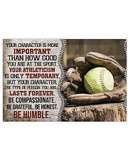 Softball Your Character Is More Important 17x11 Poster front