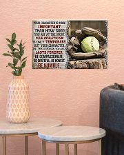 Softball Your Character Is More Important 17x11 Poster poster-landscape-17x11-lifestyle-21