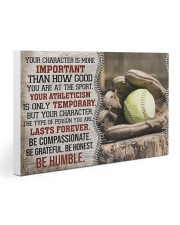 Softball Your Character Is More Important 30x20 Gallery Wrapped Canvas Prints thumbnail
