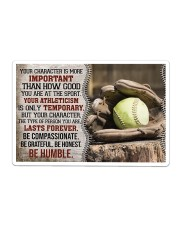Softball Your Character Is More Important Sticker - Single (Horizontal) thumbnail
