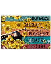 Softball - Your Talent Is God's Gift 17x11 Poster front