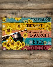 Softball - Your Talent Is God's Gift 17x11 Poster poster-landscape-17x11-lifestyle-14